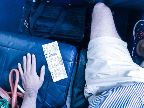 En la cabina de Business de Air Nostrum, Eros viaja en su transportín.