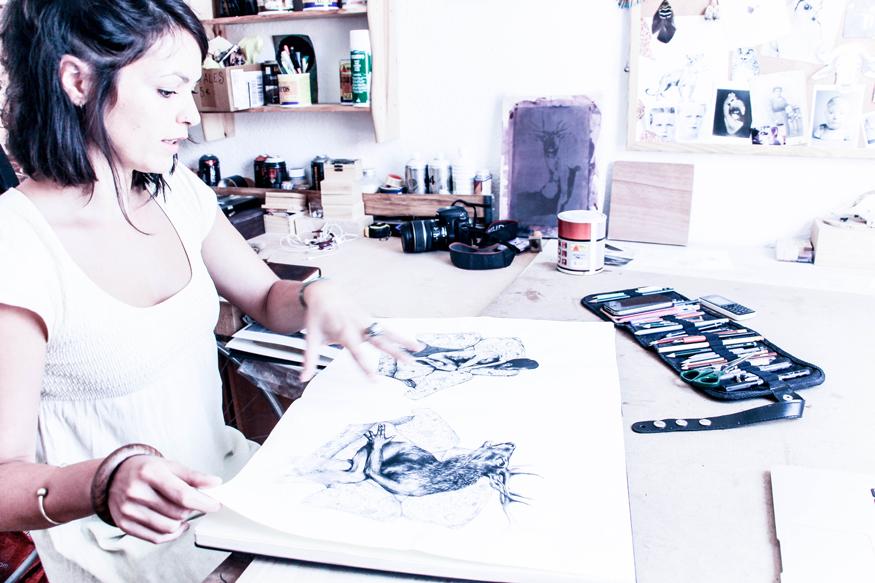 En el atelier de Martina Billi.