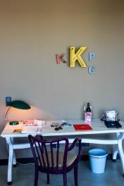 Mi escritorio de trabajo en Viena.