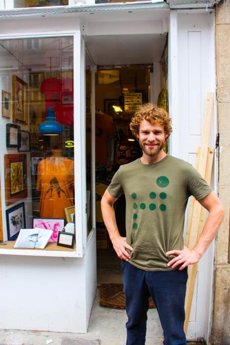 Martín Novak, el creador de las camisetas más cool de Viena.