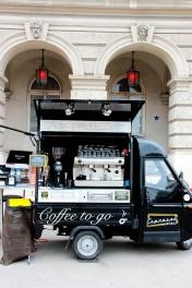 Cafetería móvil, un éxito en Viena.