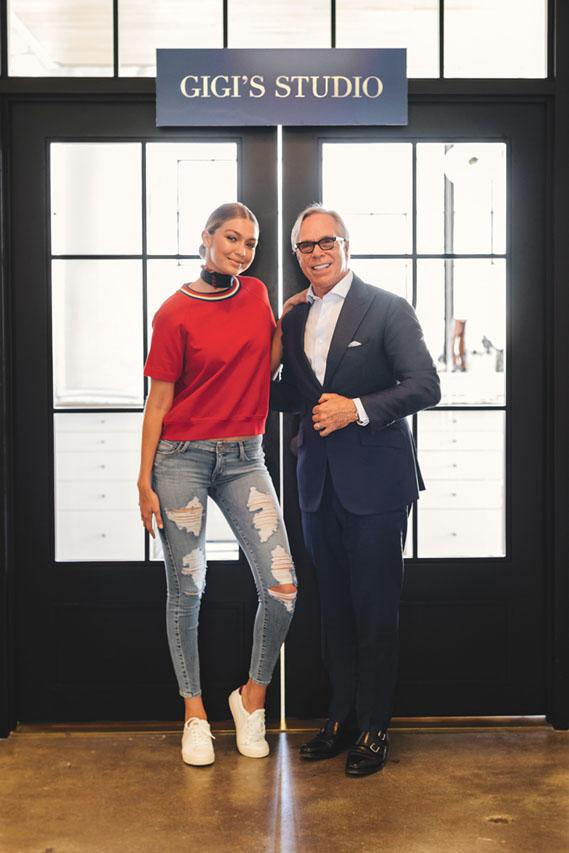 Gigi Hadid y Tommy Hilfiger.