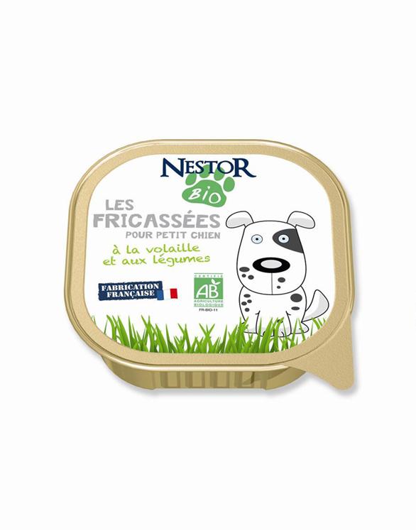 Les Fricasses NESTOR, paté 100% bio, 300 g 2,50 €.