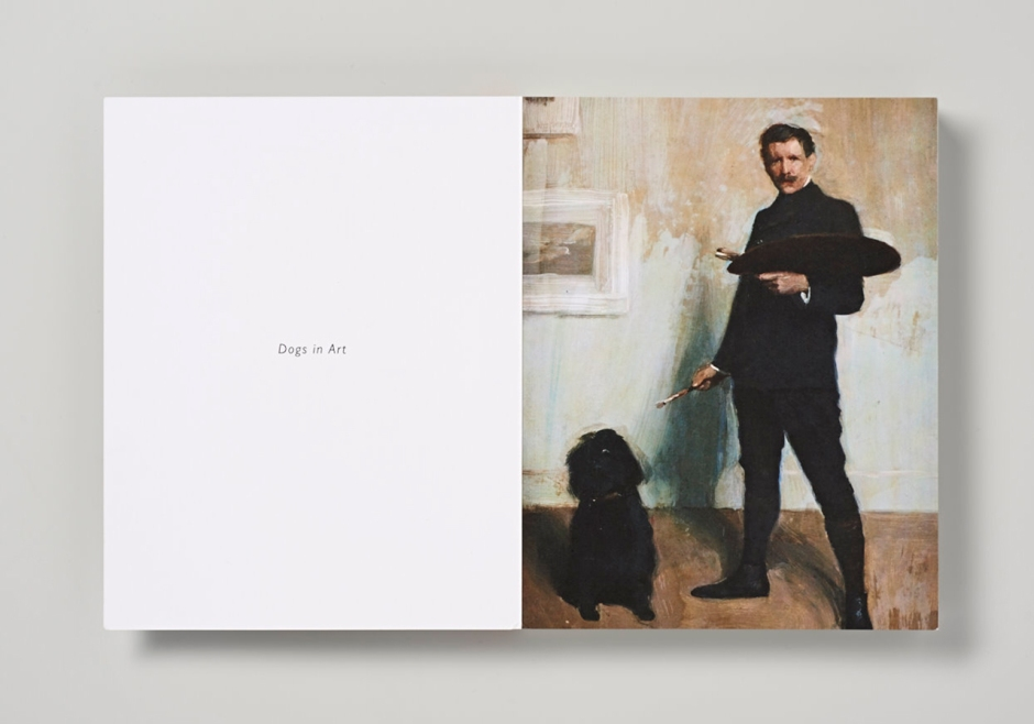 """Self-portrait with Dog"" by Bernhard Osterman."