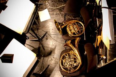 Instrumentos esperando a Mozart.