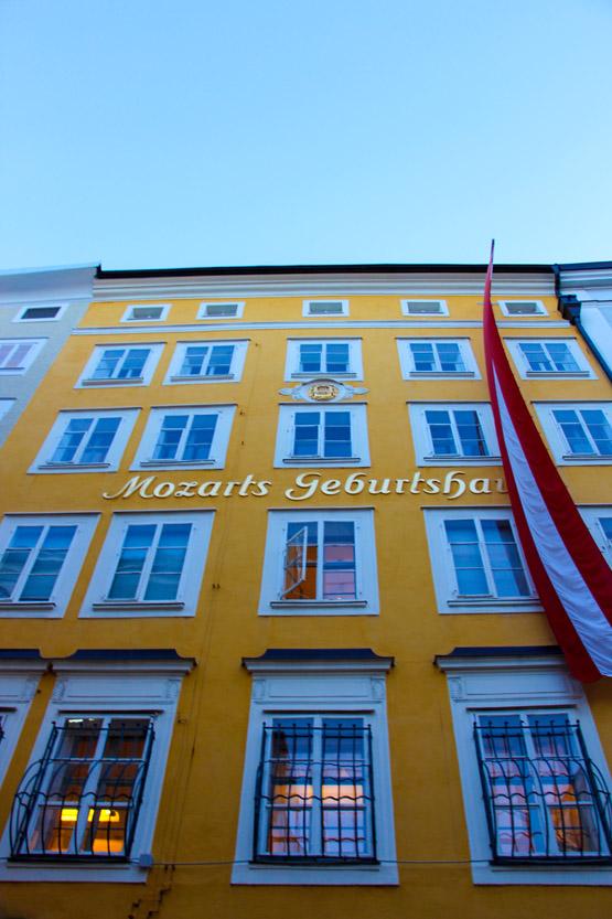 Casa natal de Mozart.