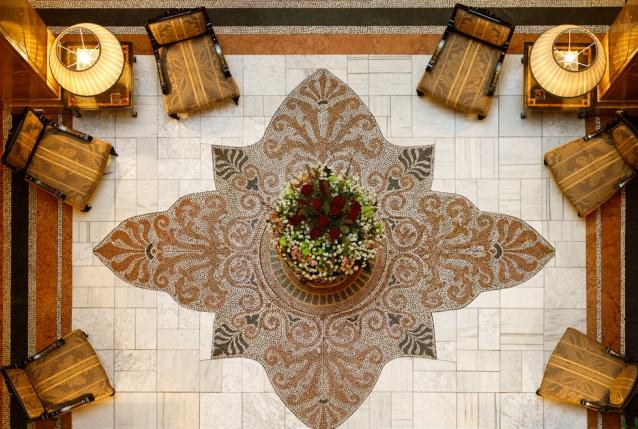Lobby del hotel Sacher.