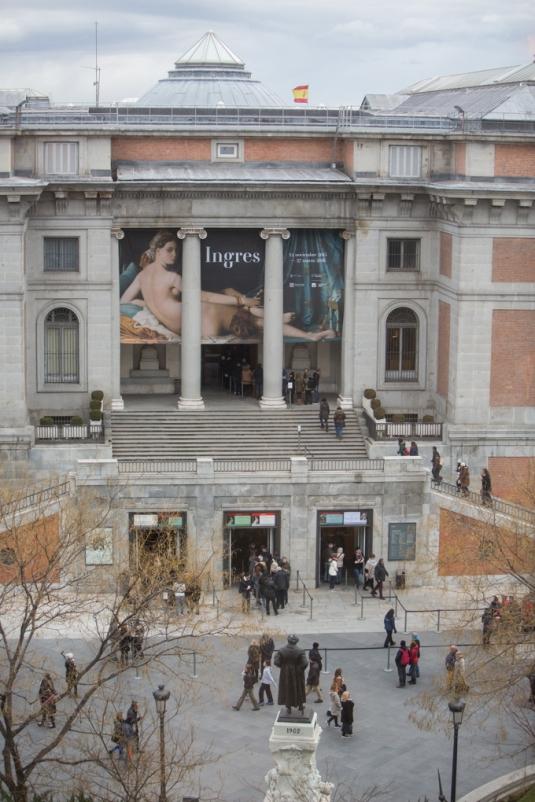 Vistas desde mi Suite Junior, el monumento a Goya y el Museo del Prado.