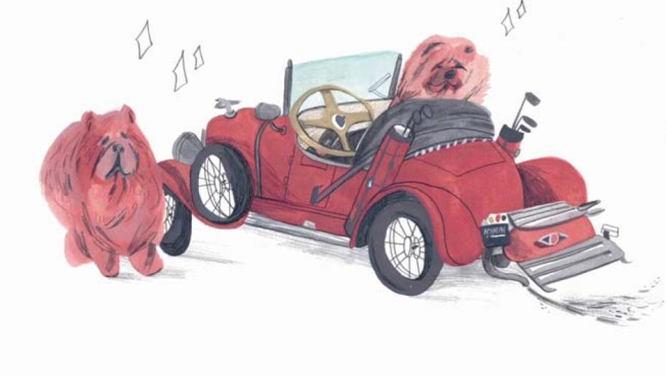 El coche y los chow-chows de Clara Bow (página 176).