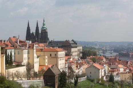 Vistas sobre Praga desde desde la colina Hradcany.