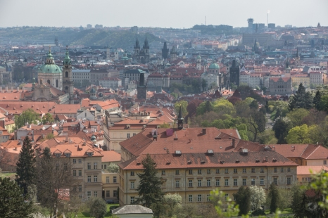 Panorámica de Praga desde desde la colina Hradcany.