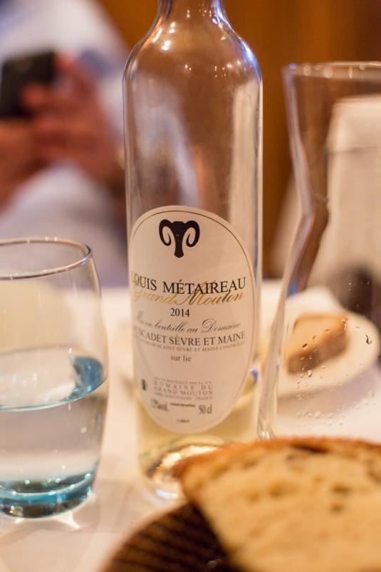 Muscadet, vino de la zona del Pays Nantais, es fresco y vivaz.