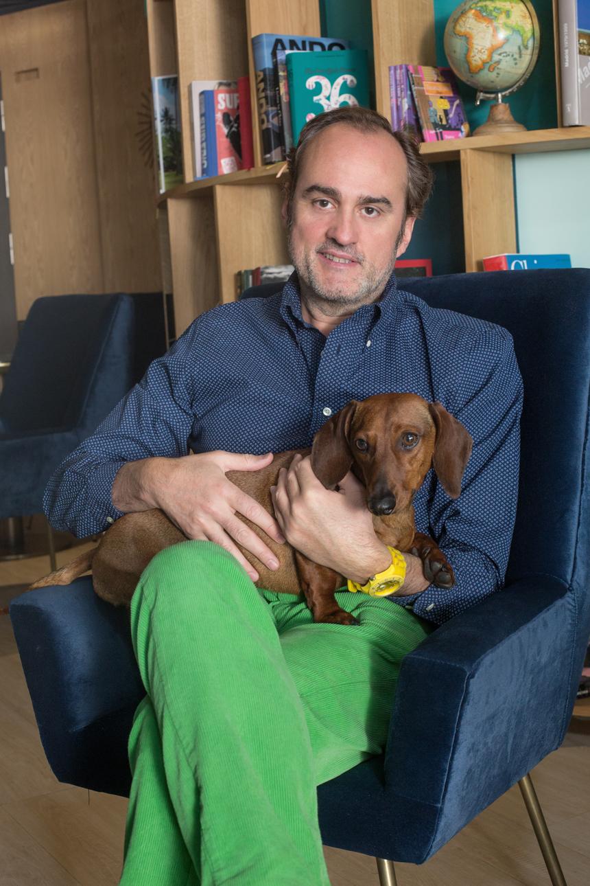 Eros con Felipe García-Bañon Sanz-Briz en el INDIGO GRAN VÍA. Foto: David Suárez Fernández.