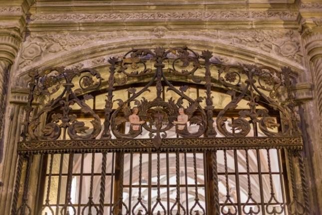 Rejas de una de las capillas de la catedral.