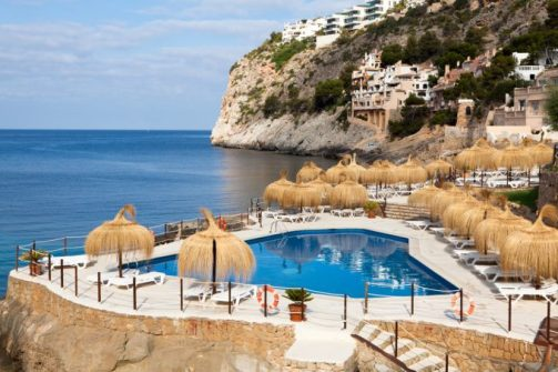Beach Club Gran Folies, situado en Cala Llamp (Port d'Andratx).
