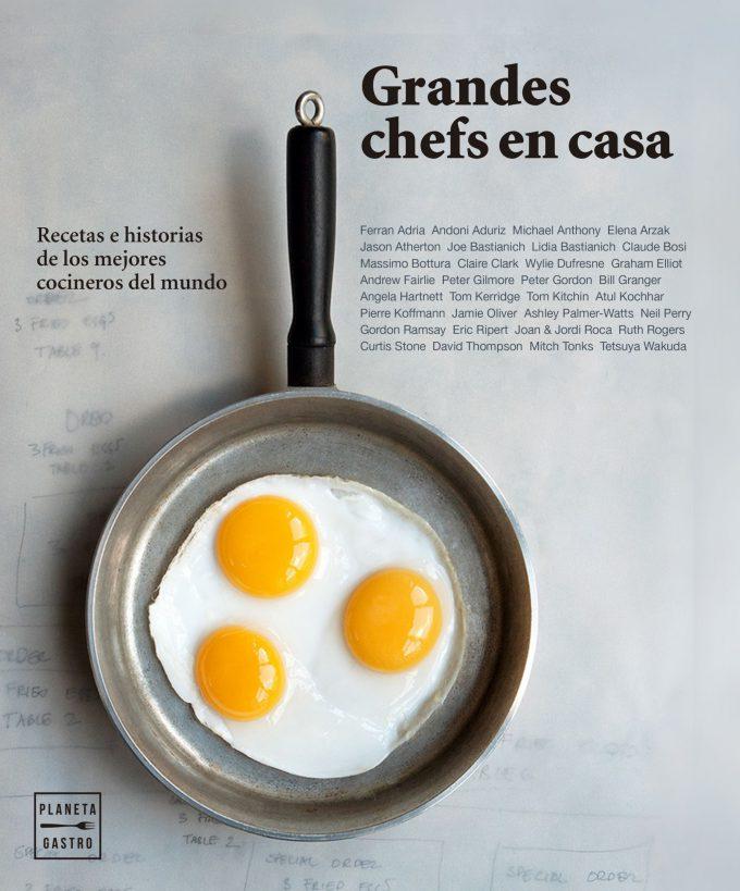"""Portada del libro """"Grandes Chefs en casa"""" (28,50 €)."""