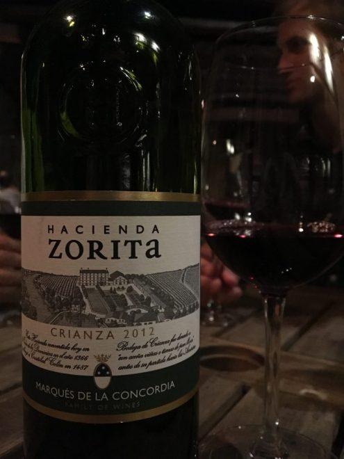 Uno de los vinos de la noche.