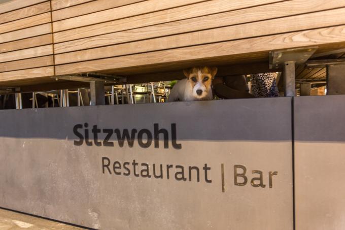Así fue la bienvenida en la terraza del mejor restaurante de Innsbruck.