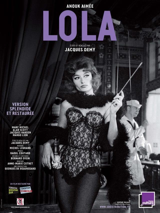 """Cartel de """"Lola"""" (1961) de Jacques Demy."""