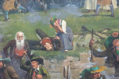 Llorando la muerte, mural del Museo Tirol Panorama.