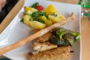 Uno de los platos que probé en Das Schutzhaus.