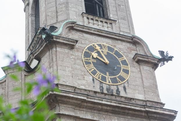 Reloj de la catedral de Innsbruck.
