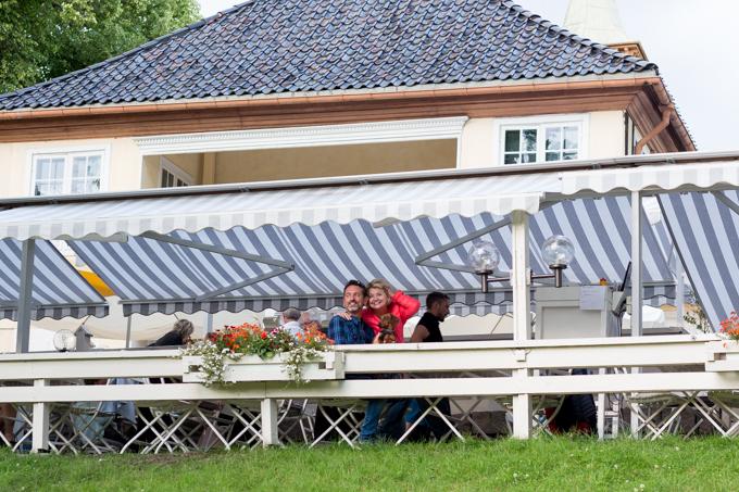 Haciendo amigos del barrio de Forgen, uno de los más exclusivos de Oslo.