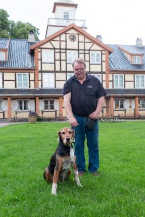 Max y Peder Anker, propietario de Herregårdskroen.
