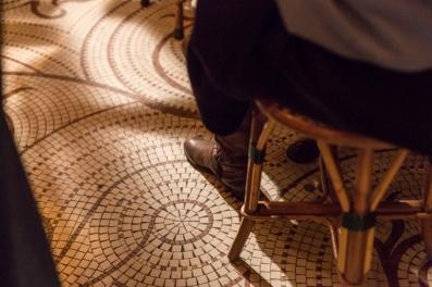 Suelo de mosaico.