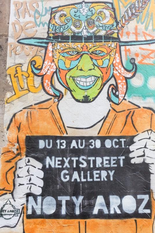 Grafitis del barrio Marais; donde reside la comunidad judía más grande de Europa y es el barrio gay de la ciudad.