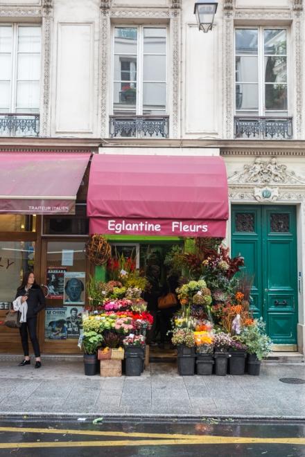 Florería de la calle Rambuteau, a pocos pasos del Pompidou.