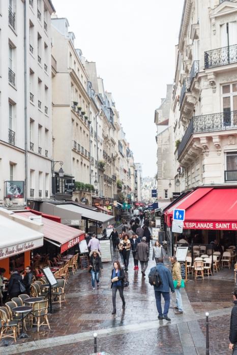 Rue Montorgueil, cuesta mucho pronunciarla como un parisino.