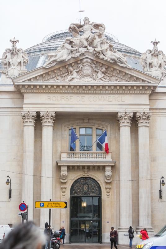 Bolsa de comercio de París.