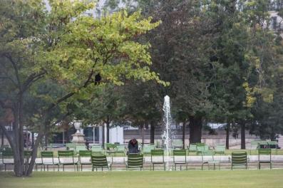Las sillas verdes de la Tullerías son otro icono de París.